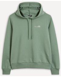 A.P.C. Mini Logo Hoodie - Green