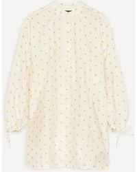 Stine Goya Neva Jasmine Taffeta Floral Tunic Dress - Natural
