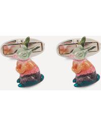Paul Smith Artist Stripe Bunny Cufflinks - Multicolour