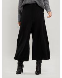 Crea Concept Wide-leg Culotte Pants - Black