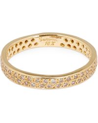 Satomi Kawakita Gold Brown Diamond Double Eternity Ring