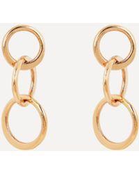 Melissa Joy Manning Gold Mini Triple Circle Drop Earrings - Metallic