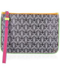 Liberty - Neon Wristlet In Iphis Canvas - Lyst