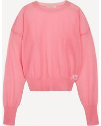 Paloma Wool Leds See-through Puff-sleeve Jumper - Pink
