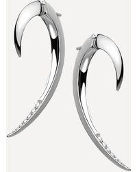 Shaun Leane Diamond Hook Earrings - Metallic