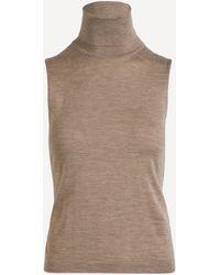 The Row Becca Cashmere-silk Sleeveless Top - Brown