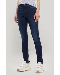 Acne Studios Peg High-waist Jeans - Blue