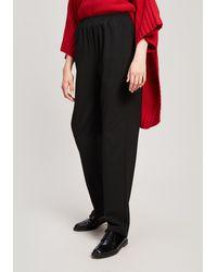 Eskandar - Narrow Stretch-wool Trousers - Lyst