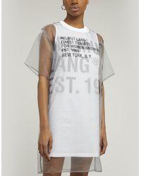 Helmut Lang Sheer Overlay T-shirt Dress - Multicolor