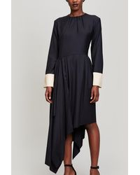 Erika Cavallini Semi Couture - Wool Asymmetrical Dress - Lyst