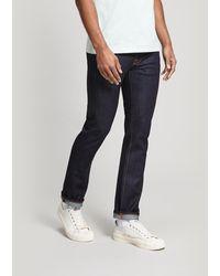 Nudie Jeans Grim Tim Dry True Navy Straight-leg Jeans - Blue