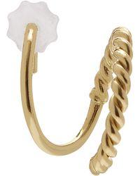 Maria Black Gold-plated Sofia Twirl Earring Right - Metallic