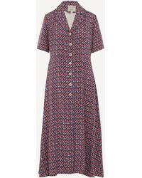 Giuliva Heritage Collection Exclusive Printed Silk Shirt-dress - Multicolor