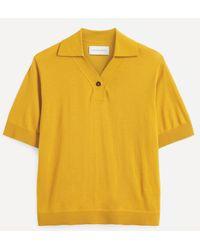 King & Tuckfield Curved Placket Merino Wool Polo-shirt - Multicolour