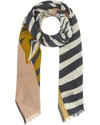 Inouitoosh - Zebra And Tiger Wool Scarf - Lyst