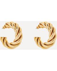 Susan Caplan Gold-plated 1980s Craft Braided Hoop Earrings - Metallic