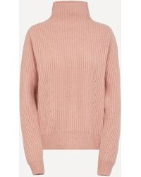 Le Kasha High Neck Ribbed Jumper - Pink