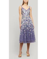 Needle & Thread Wildflower Sequin Midi-dress - Purple