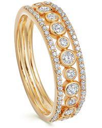 Astley Clarke Gold Triple Icon Nova Diamond Ring - Metallic