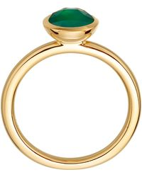 Astley Clarke Gold Vermeil Stilla Green Onyx Ring - Metallic
