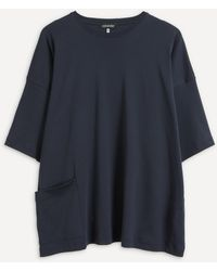 Eskandar Oversized T-shirt - Blue