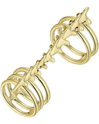 Shaun Leane Gold Plated Vermeil Silver Serpent's Trace Long Double Band Ring - Metallic
