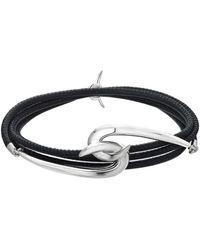 Shaun Leane Silver Hook Leather Bracelet - Metallic