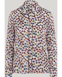 Alice + Olivia - Alfie Round Floral Collar Shirt - Lyst