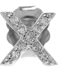 KC Designs | Rose Gold Diamond X Single Stud Earring | Lyst