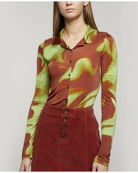 Paloma Wool Oboe Fitted Long Sleeve Shirt - Red
