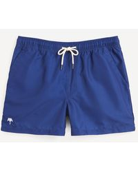Oas Solid Colour Swim Shorts - Blue