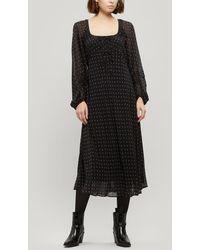 ALEXACHUNG Gathered Detail Empire Dress - Black