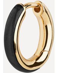 Maria Black Gold-plated Kate Ebony Enamel Single Huggie Hoop Earring - Metallic