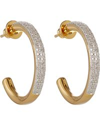 Monica Vinader - Gold-plated Fiji Large Diamond Hoop Earrings - Lyst