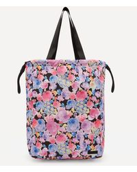 Ganni Recycled Tech Fabric Large Drawstring Tote Bag - Multicolour