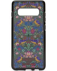 Liberty X Tech21 Pure Print Strawberry Thief Samsung 10s+ Case - Black