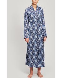 Liberty Valentine Silk Charmeuse Robe - Blue