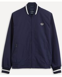 Fred Perry Made In England Tennis Bomber Jacket - Blue