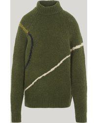 Paloma Wool Libra Intarsia Knit Jumper - Green