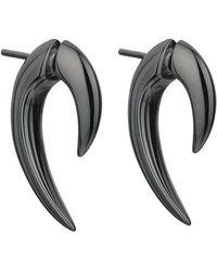 Shaun Leane Black Silver Rhodium Talon Earrings