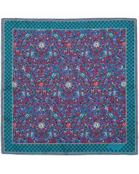 Liberty Liberty Print Imran Silk Pocket Square - Blue