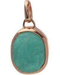 Monica Vinader Rose Gold Vermeil Siren Medium Amazonite Bezel Pendant - Green
