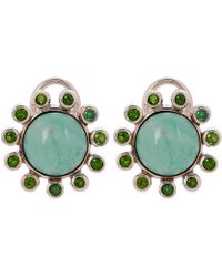 Stephen Dweck - Silver Variscite And Chrome Diopside Clip-on Stud Earrings - Lyst