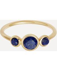 Astley Clarke Gold Plated Vermeil Silver Stilla Triple Lapis Lazuli Ring - Metallic