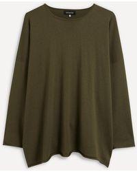 Eskandar A-line Cashmere-silk Jumper - Green