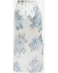 Acne Studios Metallic Floral Tie-side Midi-skirt - Multicolor