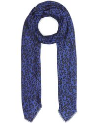 Lily and Lionel - Textured Leopard Print Large Silk Scarf - Lyst