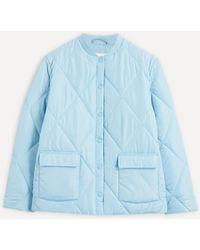 ALIGNE Ellyse Diamond Quilted Jacket - Blue