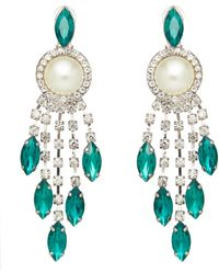 Shrimps Belva Crystal And Faux Pearl Drop Earrings - Multicolour
