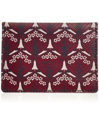 Liberty Travel Card Holder in Iphis Canvas - Morado